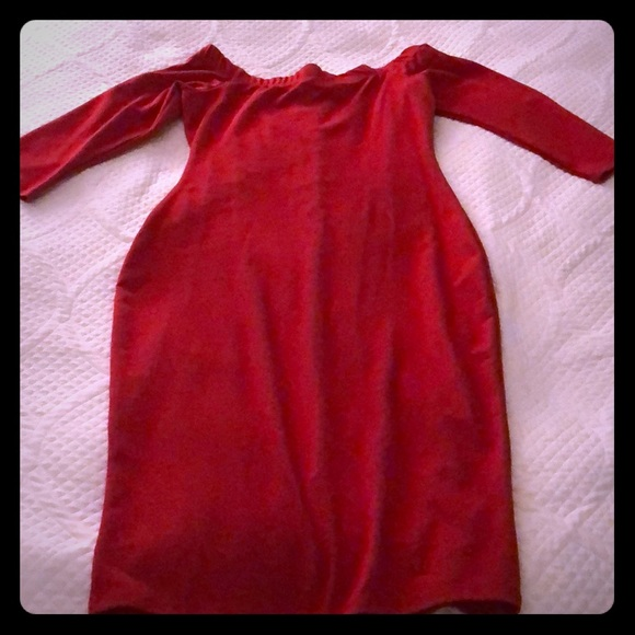 Zara Dresses & Skirts - NWT Red Off the Shoulder Bodycon Midi Dress